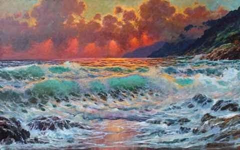 Evening Tide, Big Sur by  A Dzigurski II - Masterpiece Online