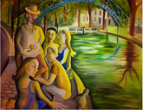 Picnic by the Canal by Ms. Rebecca Vincenzi - Masterpiece Online