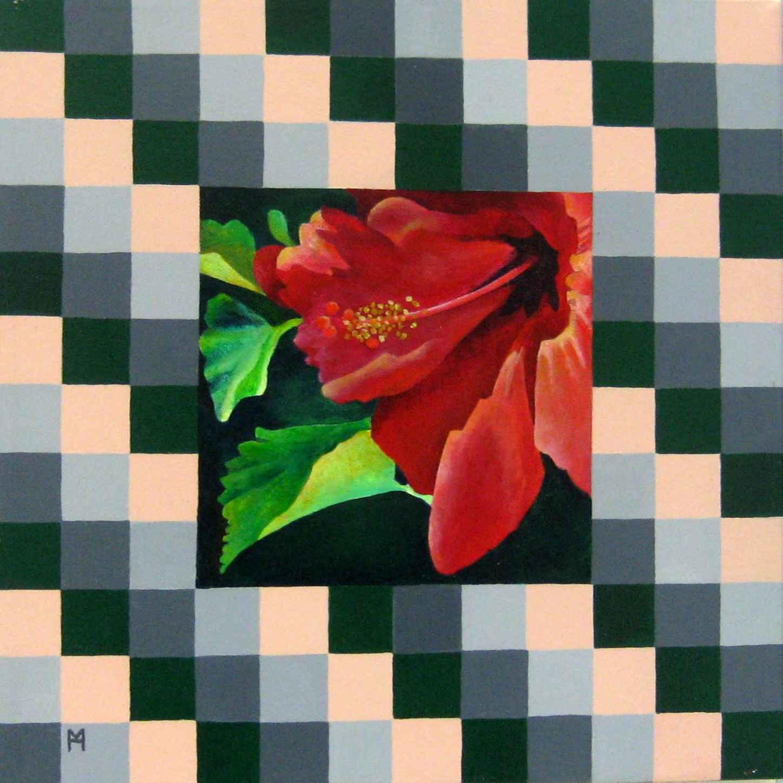 Geometric Hibiscus 1 by  Heather Meyer - Masterpiece Online