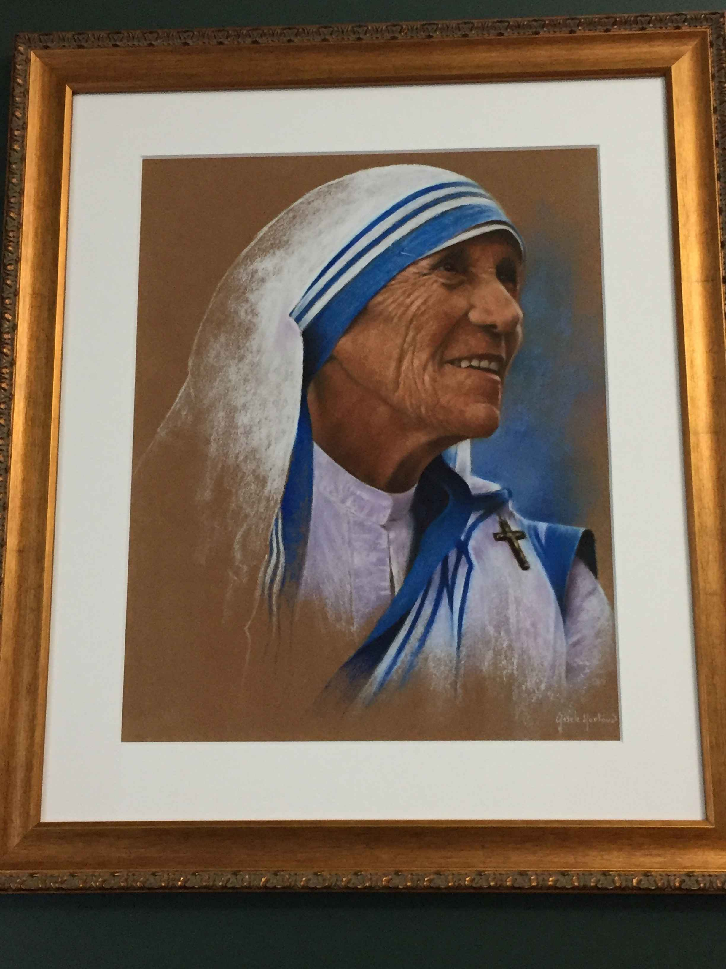 Holy Mother Teresa by  Gisele Hurtaud - Masterpiece Online