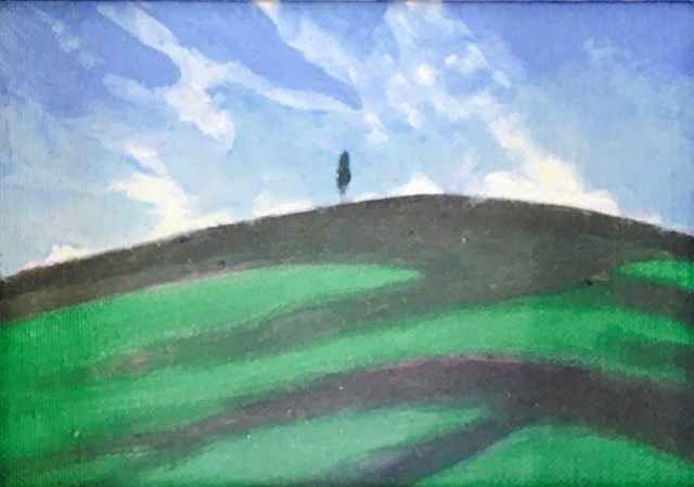 Tree on Hill by  Mary Theisen - Helm - Masterpiece Online