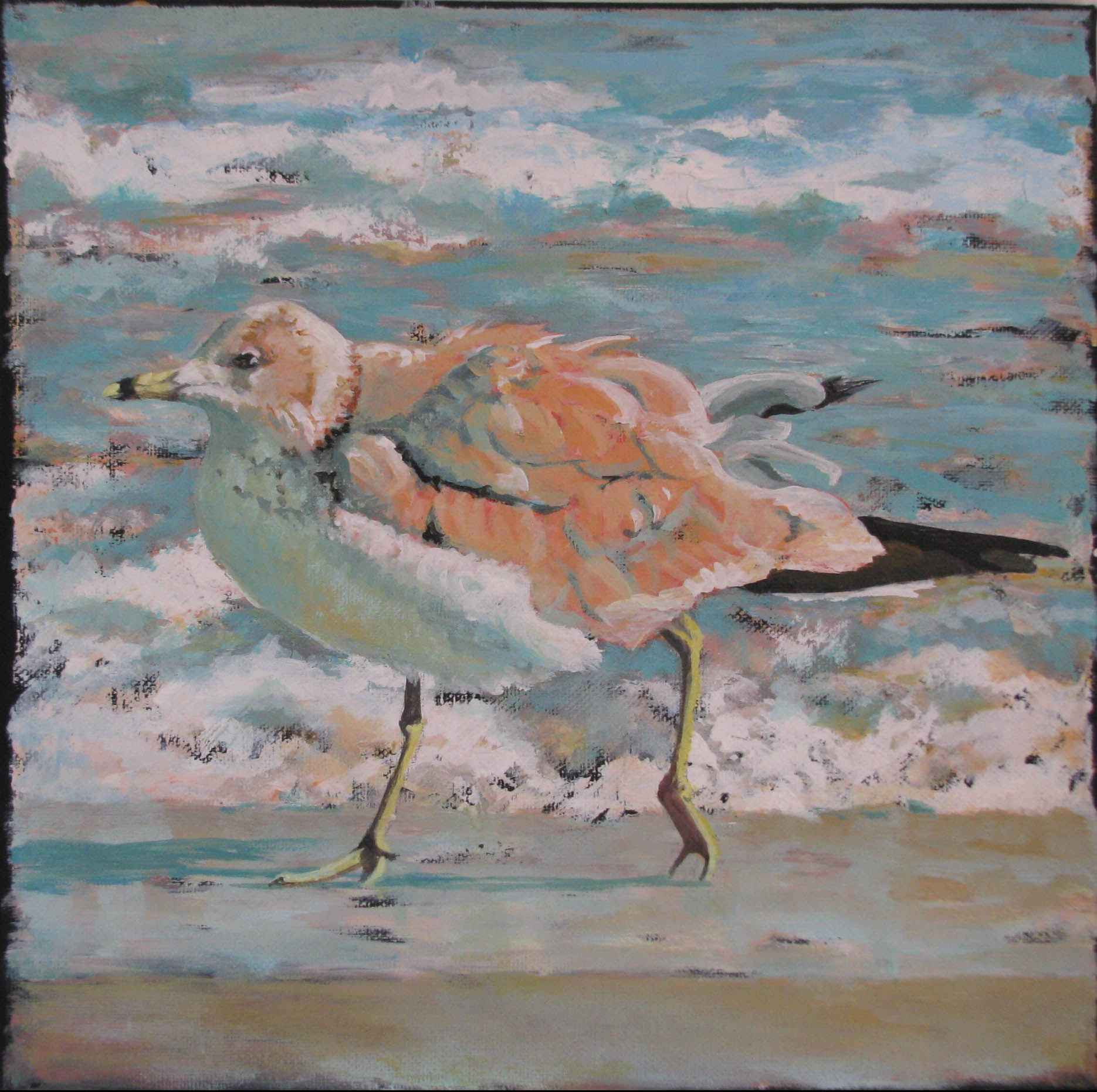 Moving Gull by  Pat Holscher - Masterpiece Online
