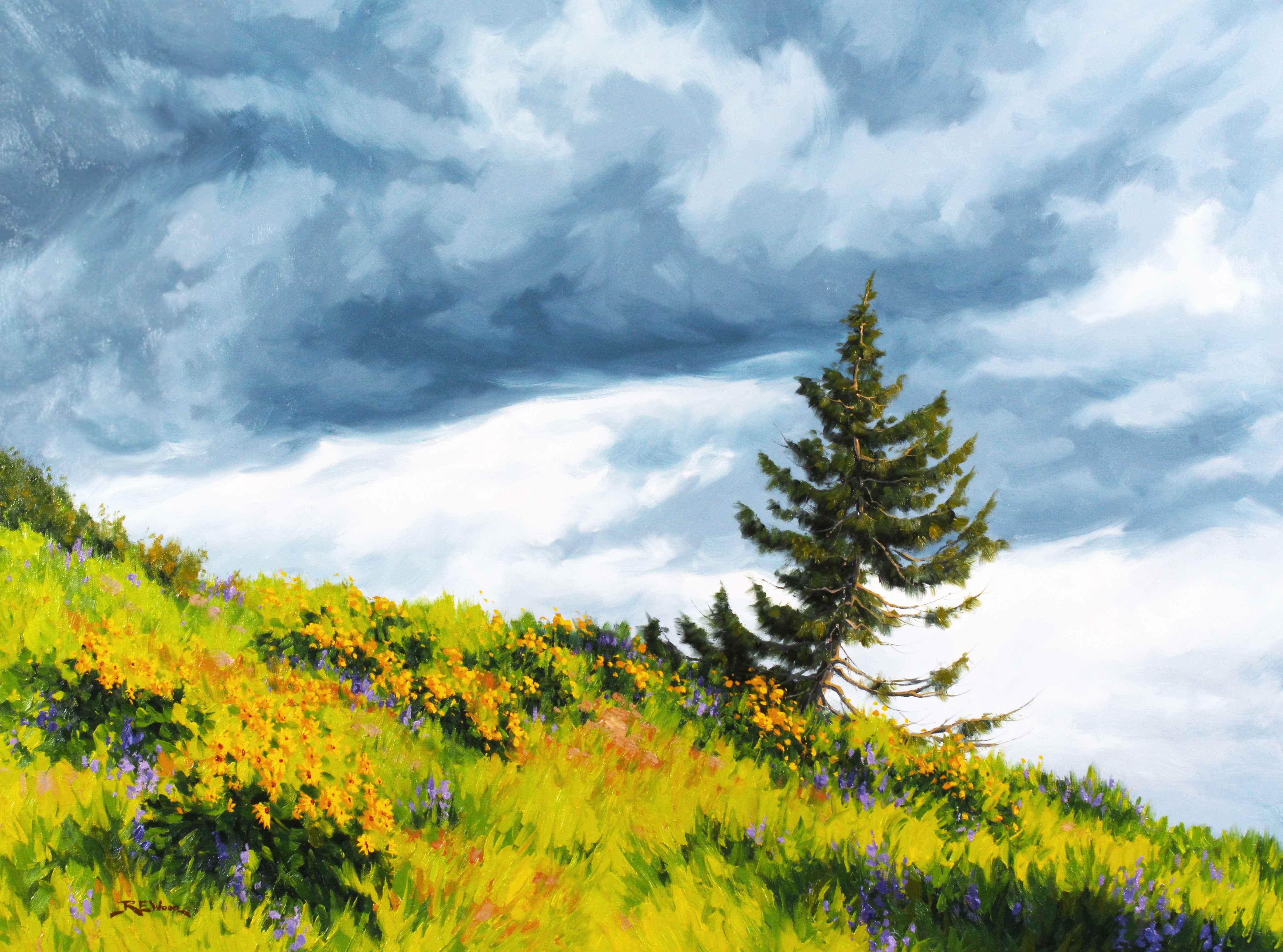 Lone Pine (Waterton)  by  Robert E. Wood