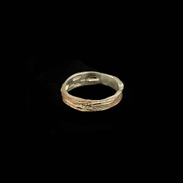 Birch Bark Narrow Ring - Size 8