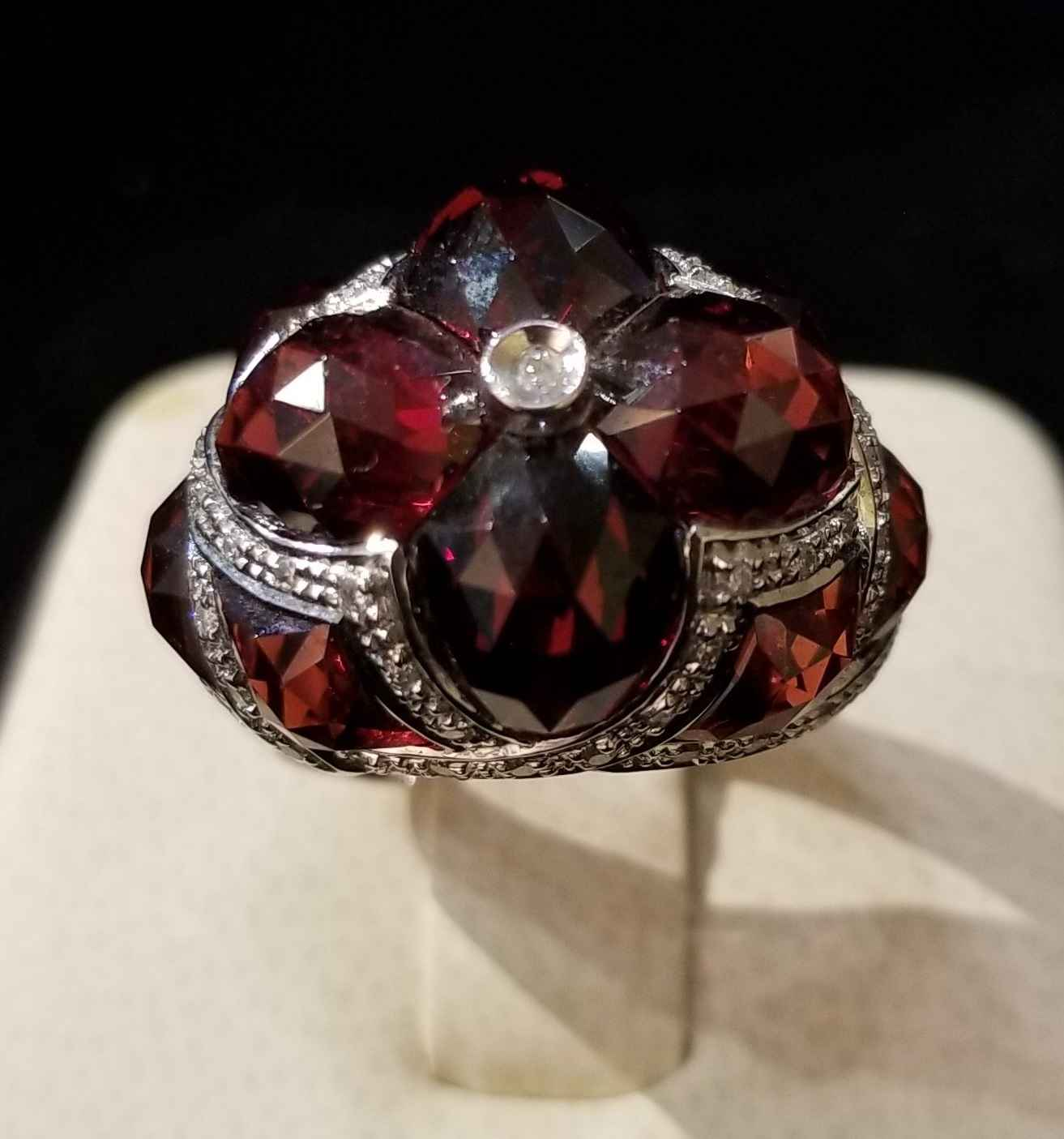 Garnet Ring - WG by  My Jeweler - Masterpiece Online