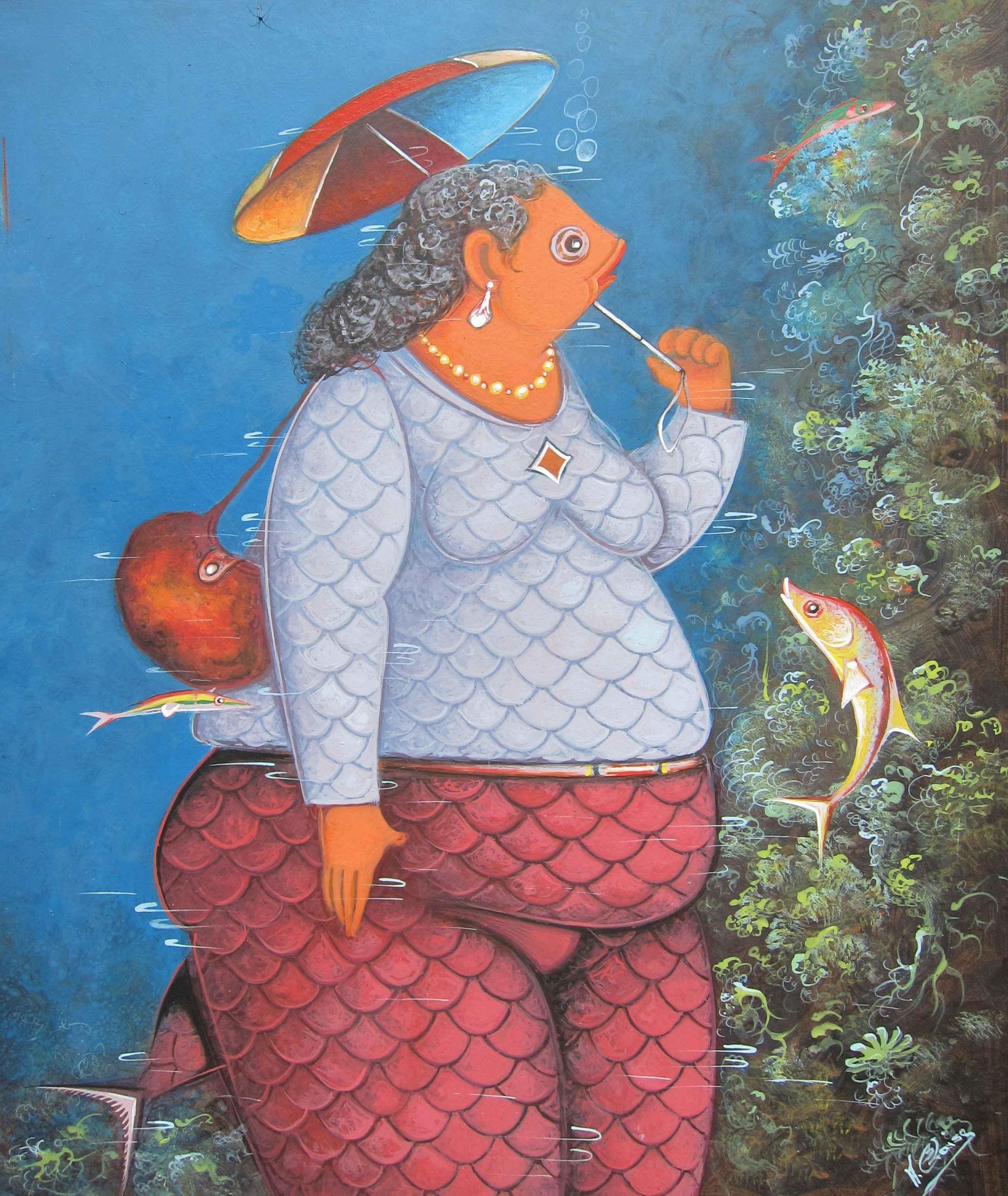 Dame avec parapluie by  Andre BLAISE - Masterpiece Online