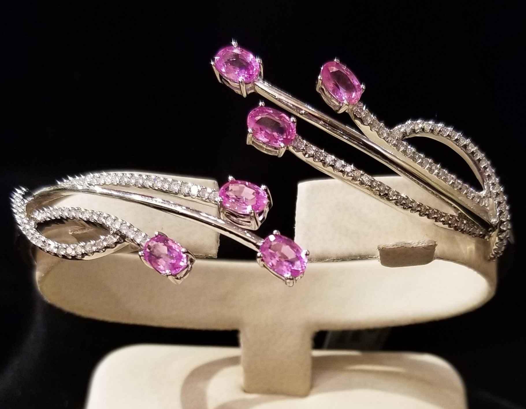 Pink Sapphire Bracele... by  My Jeweler - Masterpiece Online