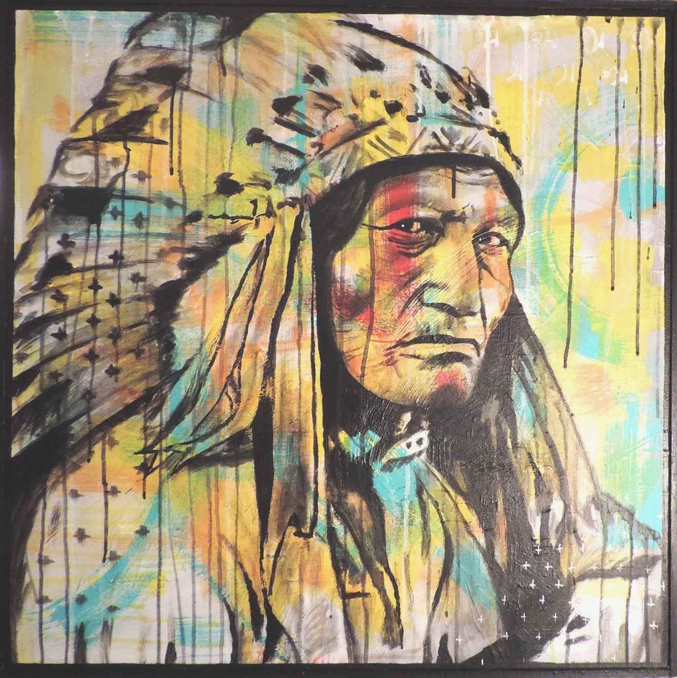 Colour on big chief by   MÖ - Masterpiece Online