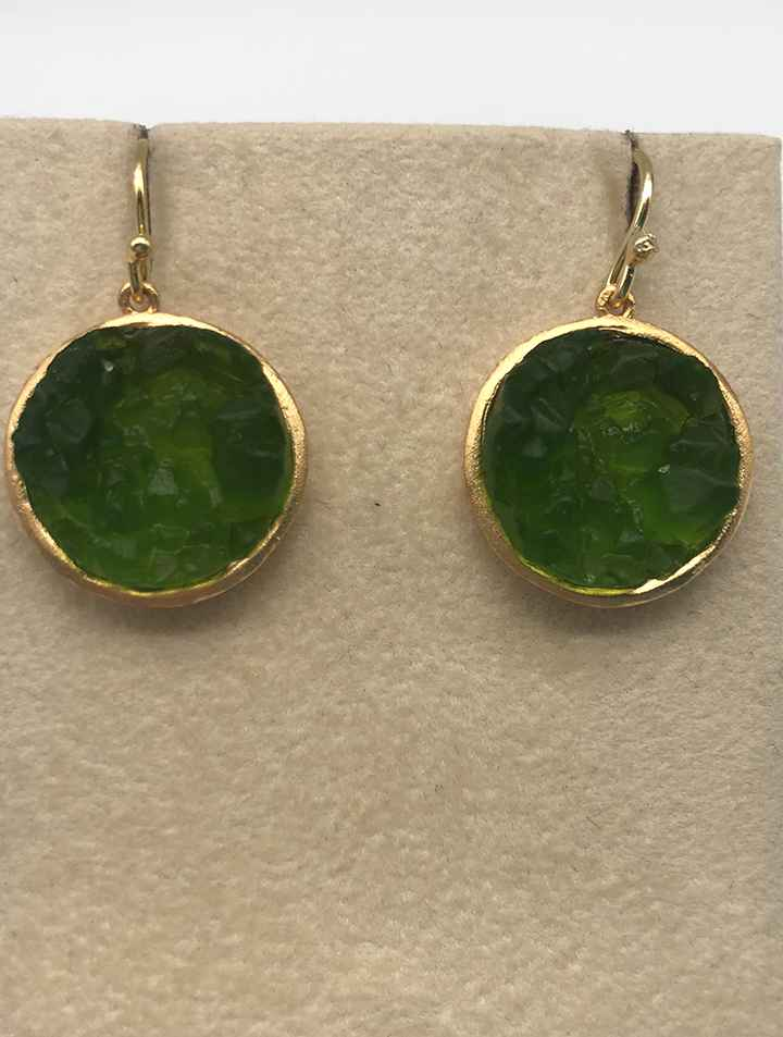 Crystal Round Wire Earrings 1