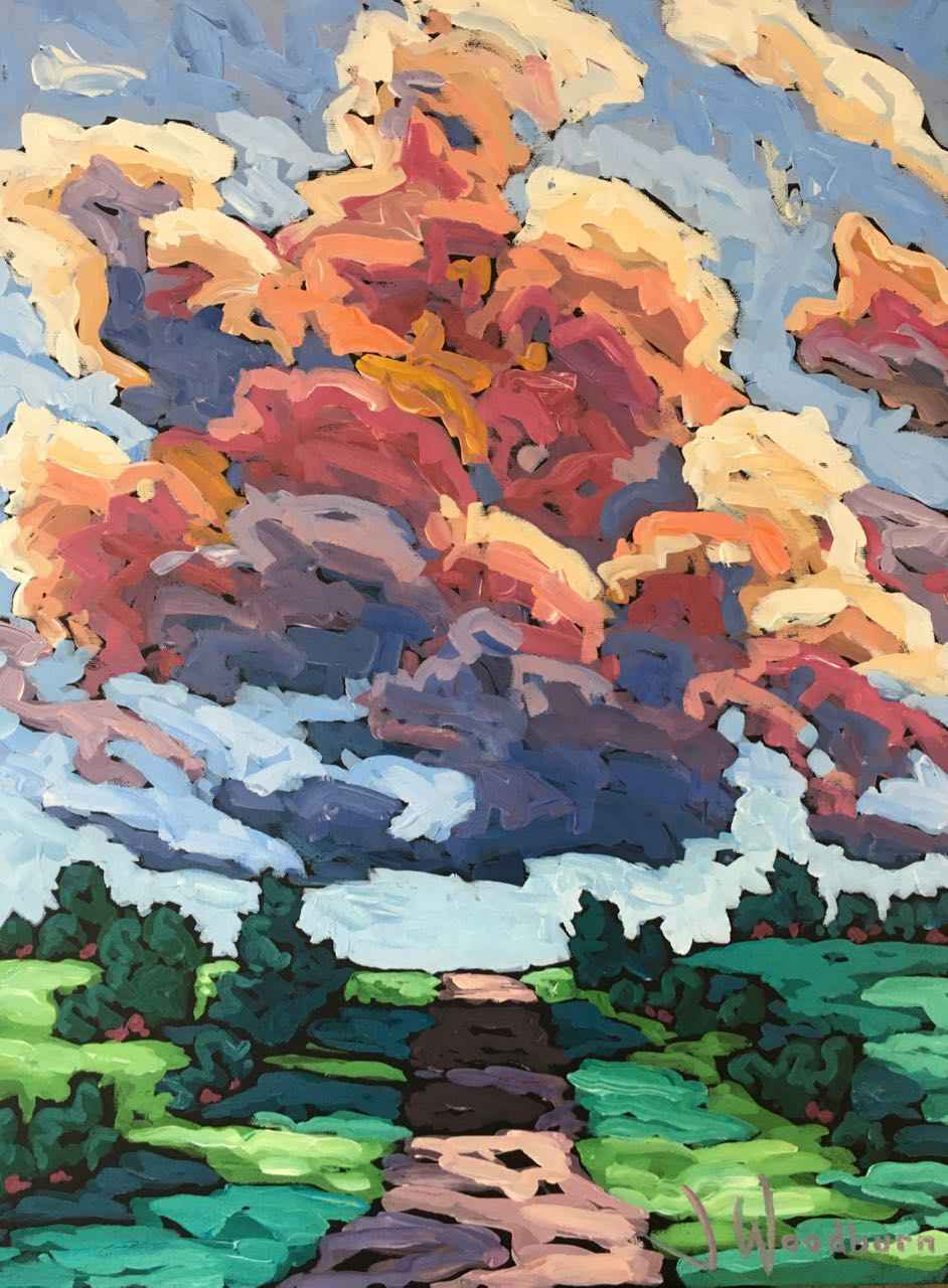 Big Sky Over Back Roa... by Ms Jennifer Woodburn - Masterpiece Online