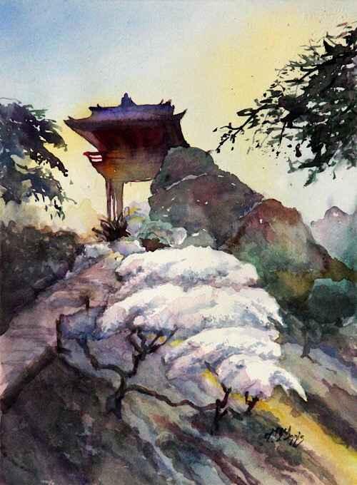 Tea Garden Gates  by  Theresia McInnis