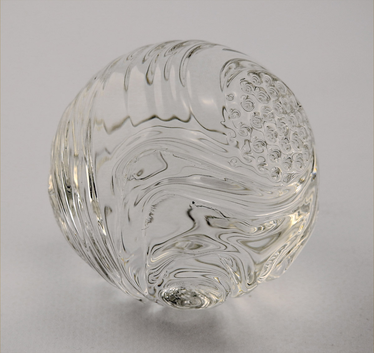 Marble/Clear Carved by  Jay Massey - Masterpiece Online