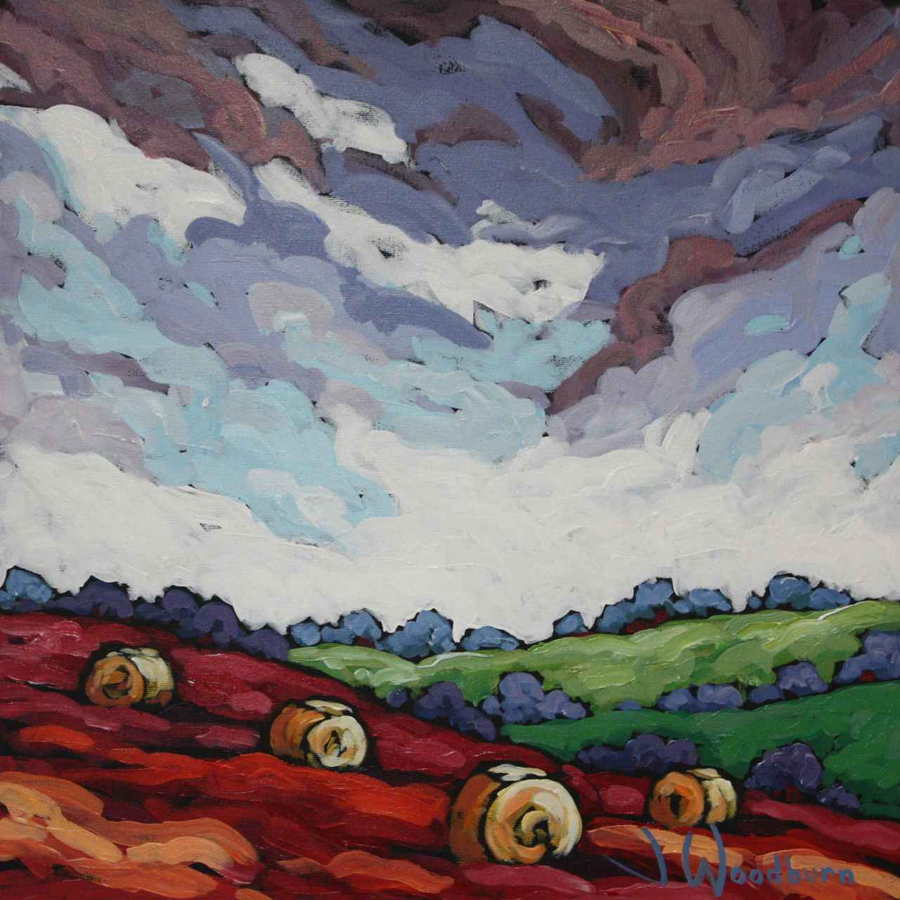 Big Sky Over Fall Fie... by Ms Jennifer Woodburn - Masterpiece Online