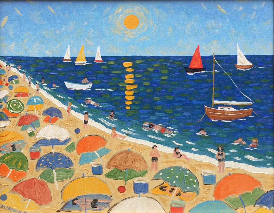 Summer at the Beach by  Claudio Gasparini - Masterpiece Online