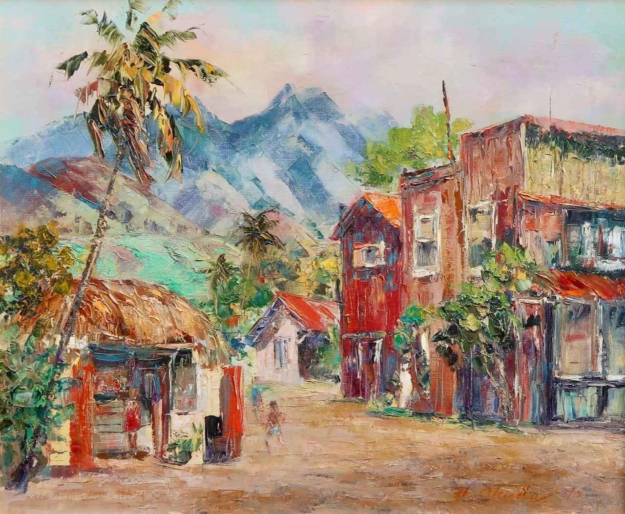 Lahaina Town by  Hajime Okuda (1906-1992) - Masterpiece Online