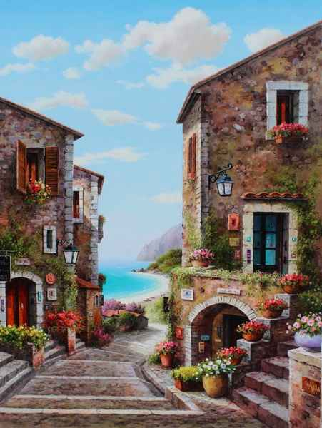 Village Inn by  Soon Ju Choi  - Masterpiece Online