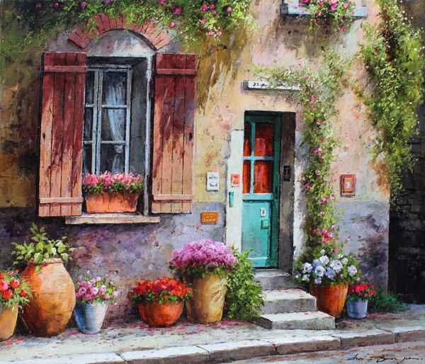 Village Door by  Soon Ju Choi  - Masterpiece Online