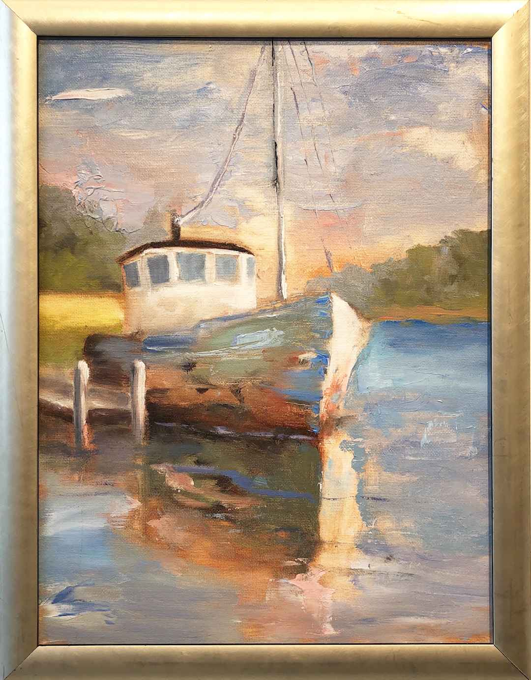 Fishing for Shadows by  Barbara Saunders - Masterpiece Online
