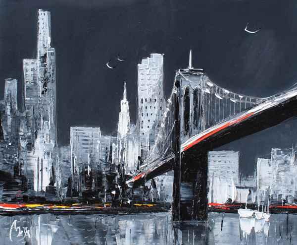 Brooklyn Bridge by  Louis  Magre - Masterpiece Online