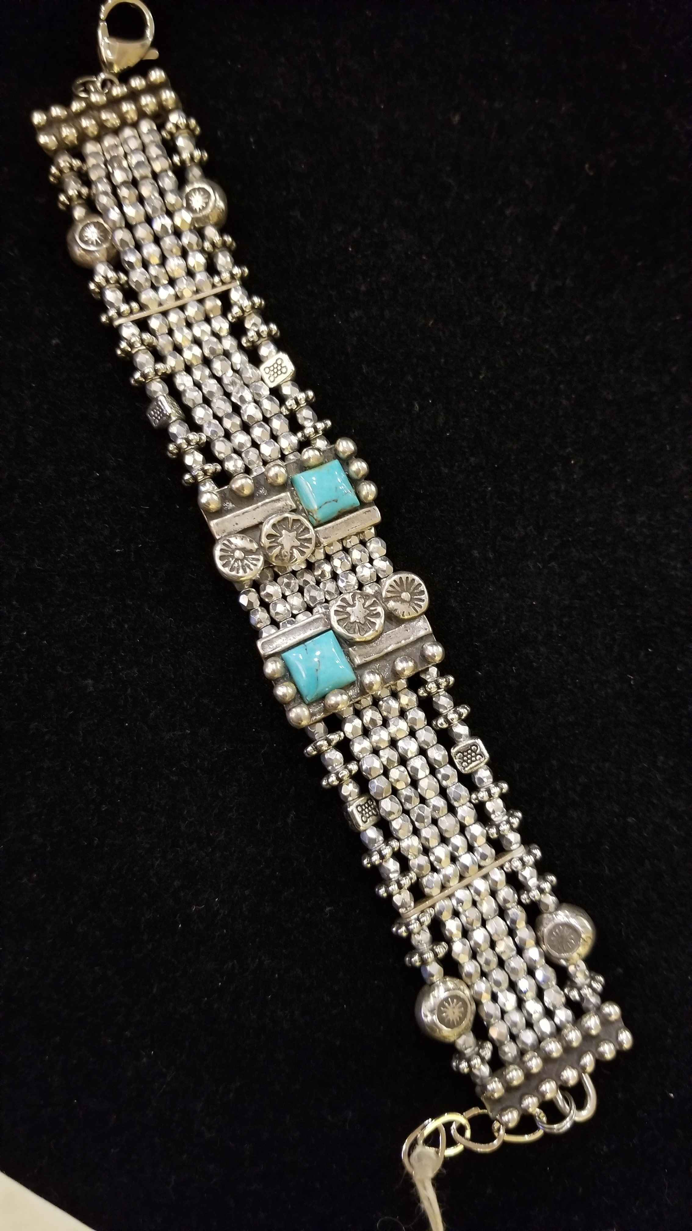 Silver & Turquoise Br... by  Mummy's Bundle - Masterpiece Online