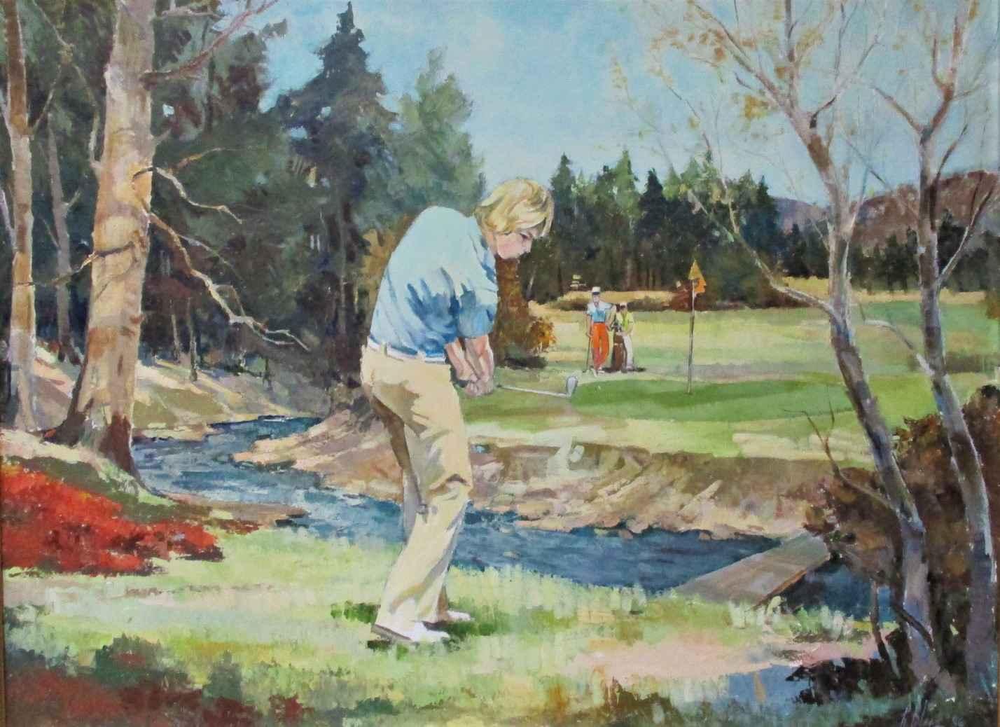 Untitled (golfer) by  Robert Blue - Masterpiece Online
