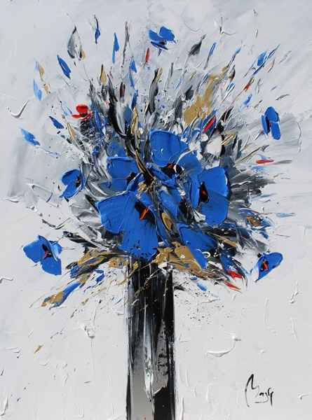 Big Blue Poppies by  Louis  Magre - Masterpiece Online