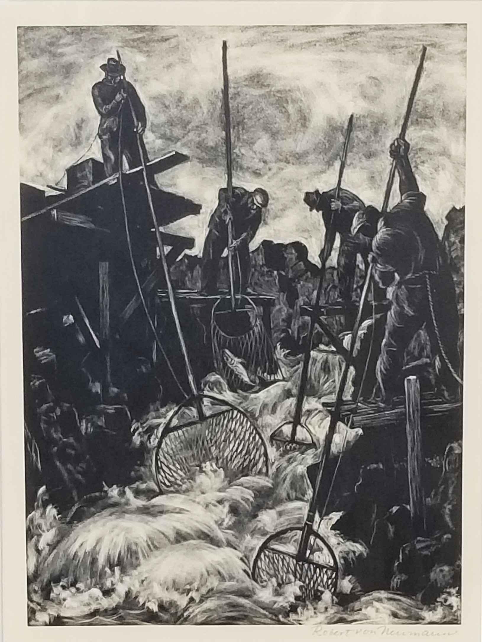 Untitled (Four men fi... by Mr. Robert von Neumann - Masterpiece Online