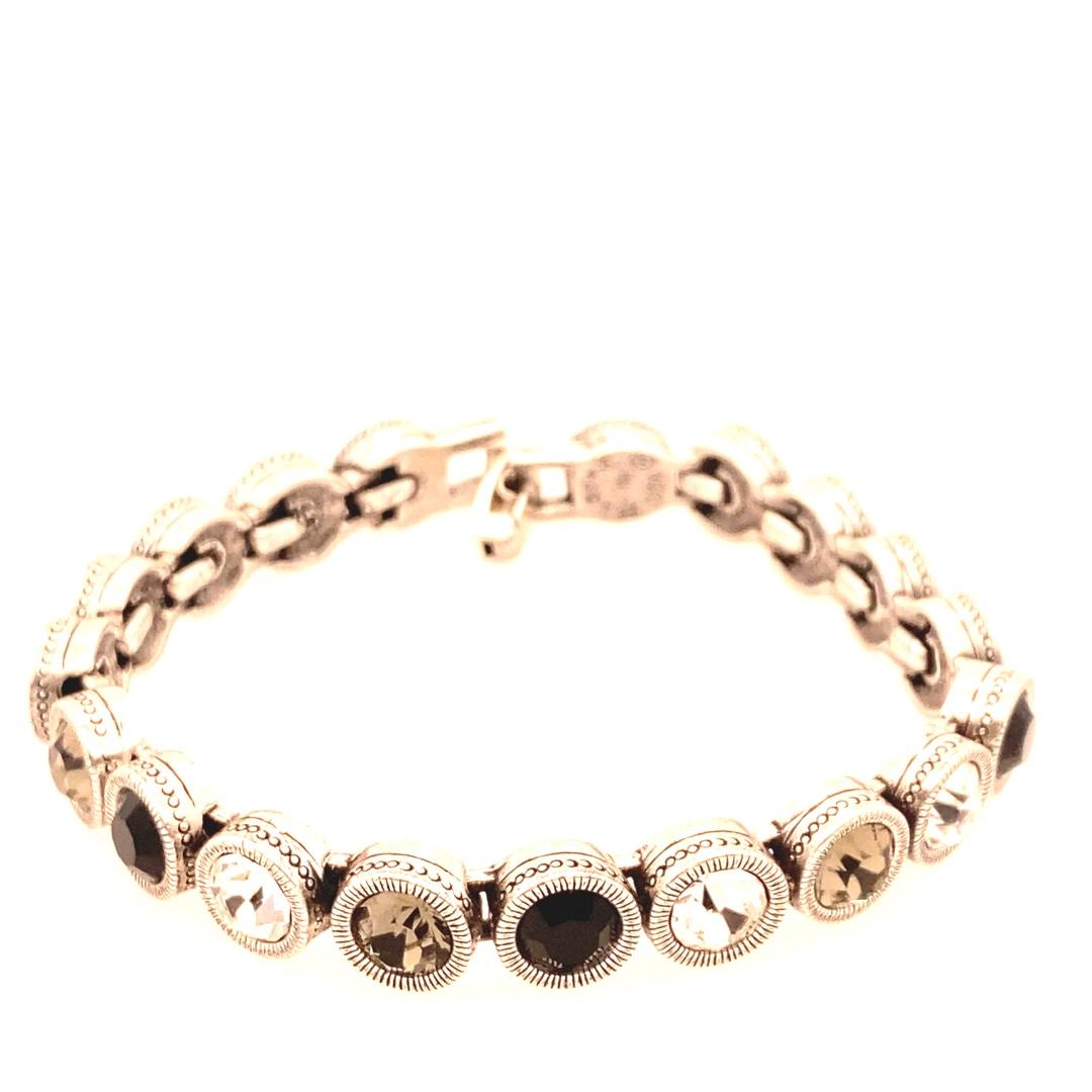40-Love Bracelet in Silver, Black & White