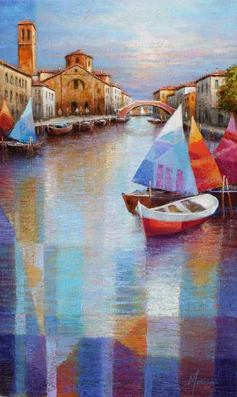 Small Boats, Venice  by  Gabriella Mariani
