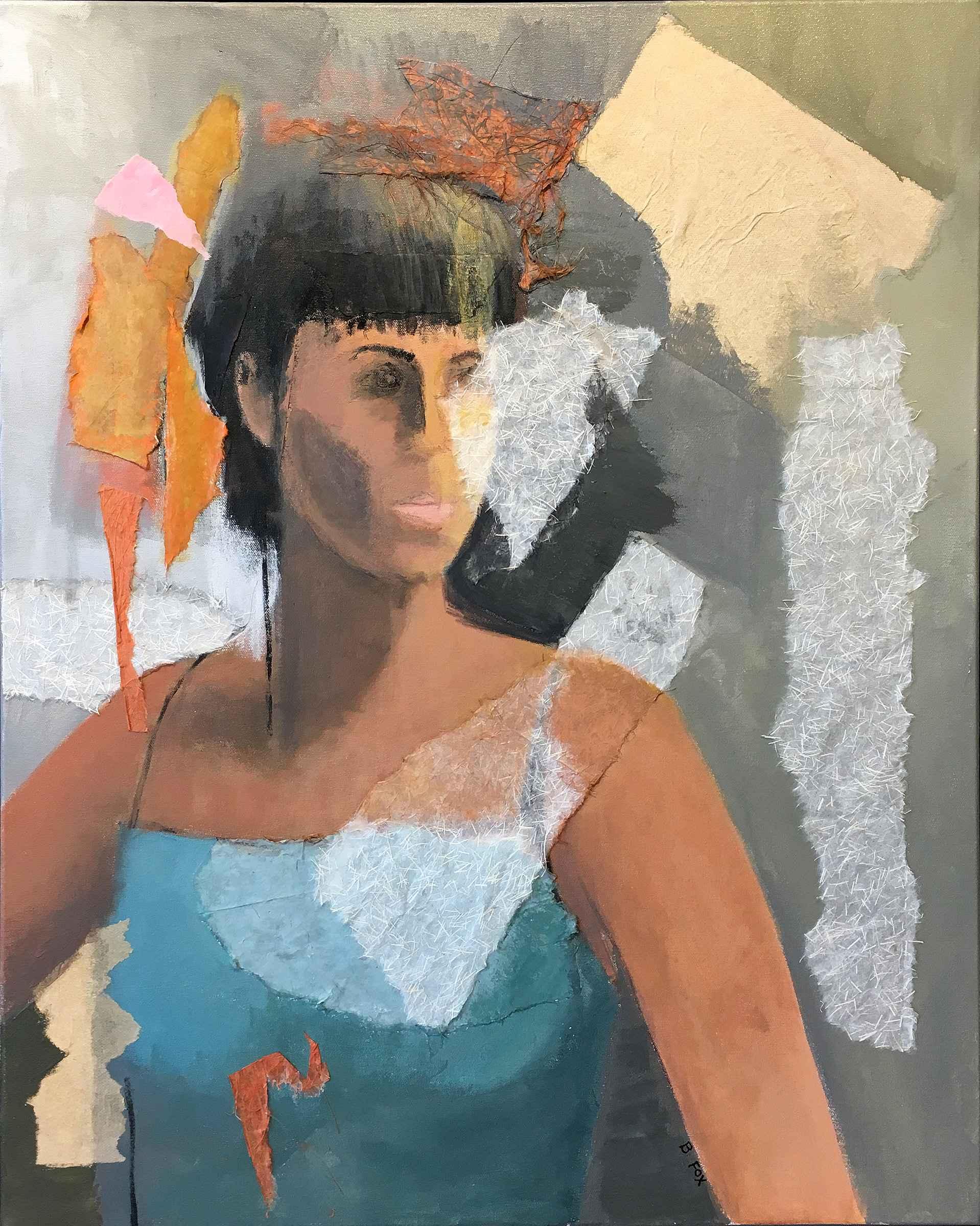 Woman in Blue by  Brenda Fox - Masterpiece Online