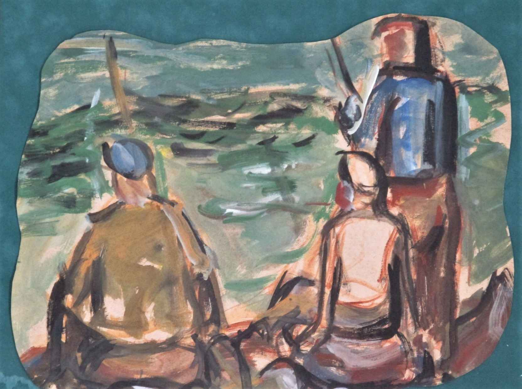 Untitled ( 3 people f... by  Albert Clarence Runquist - Masterpiece Online