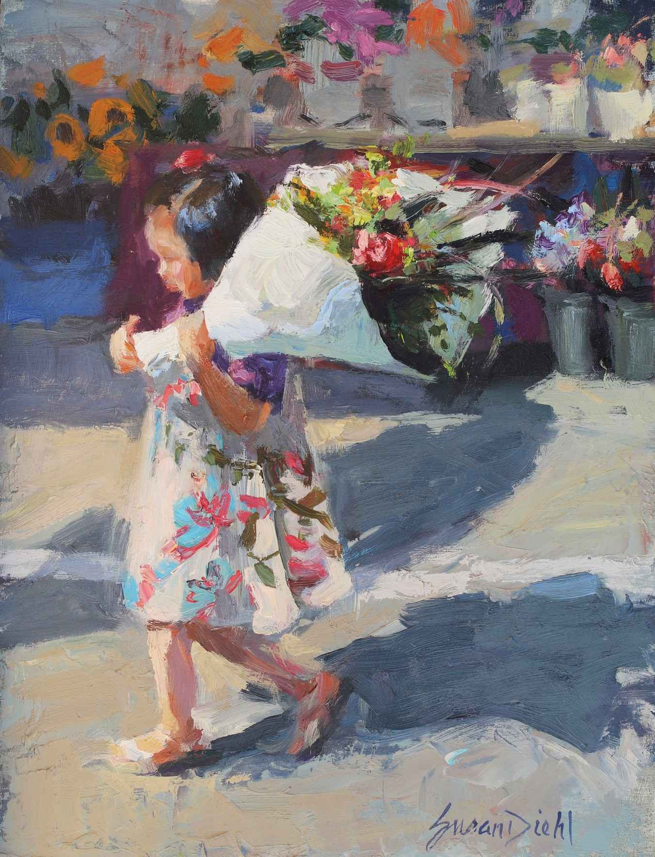 Flower Girl represented by  by  Susan Diehl