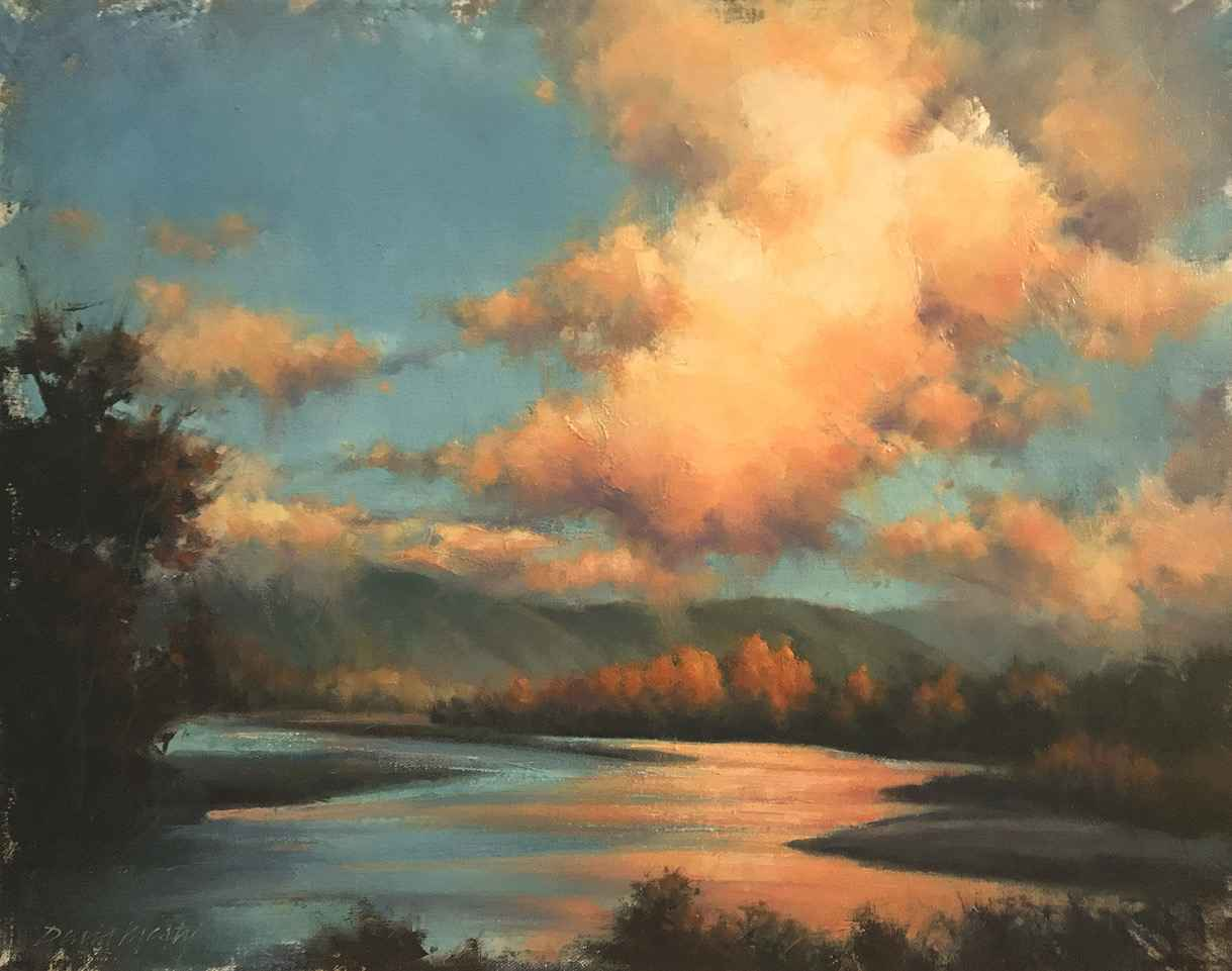 Evening On The Snohom... by  David Marty - Masterpiece Online