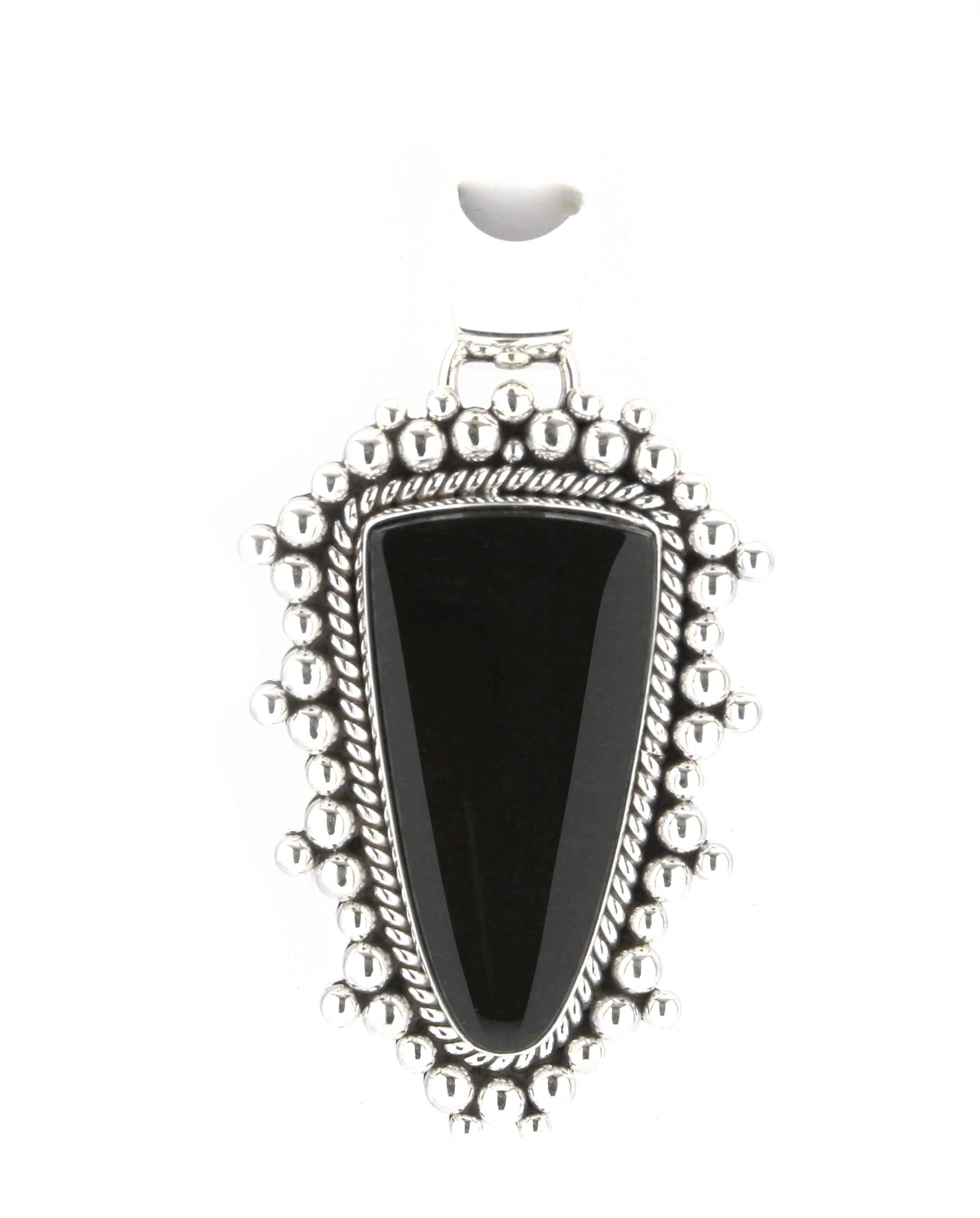 pendant onyx s pentacle crystal black vaults