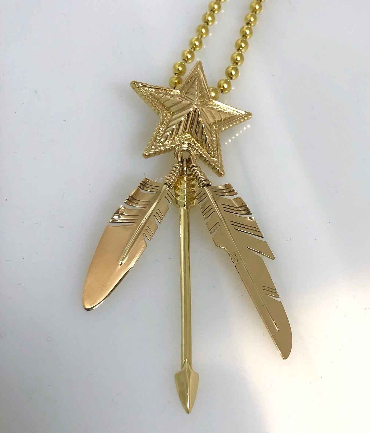 Gold Star Two Feather... by  Ray Tracey Cody Sanderson - Masterpiece Online
