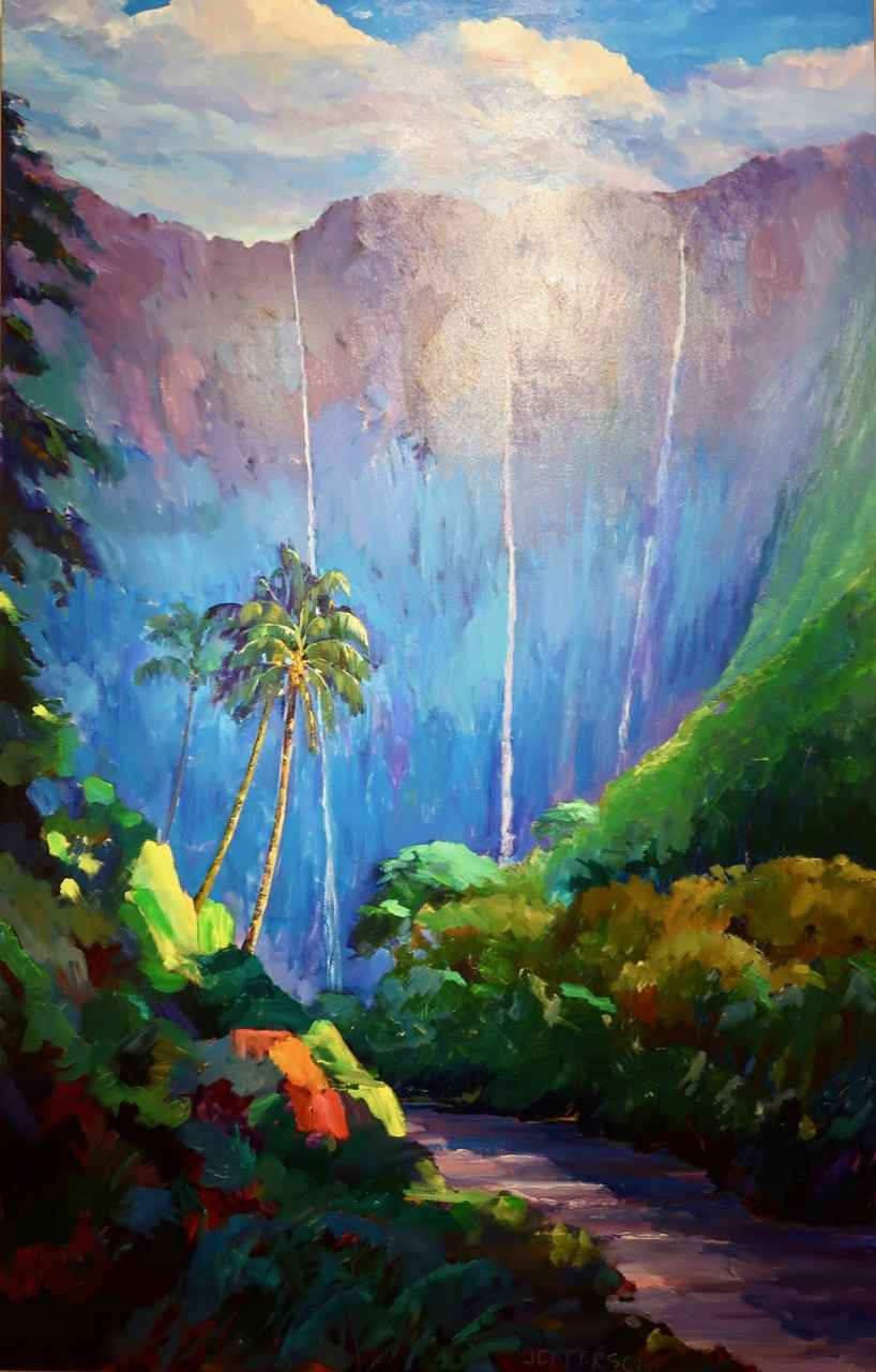 Hi'ilawe Falls by Mr. & Mrs. Peter Jefferson - Masterpiece Online