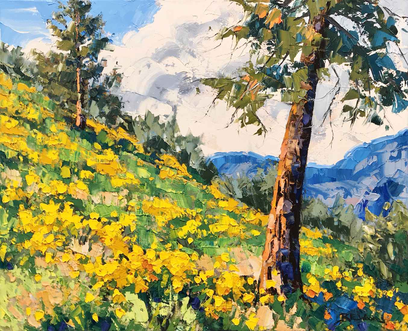 Okanagan in Bloom by  Robert E. Wood - Masterpiece Online