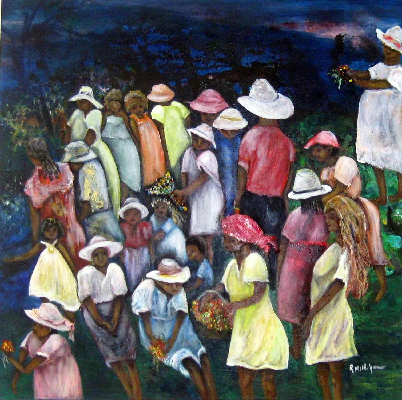 Village Celebration by  Rosanne Milligan - Masterpiece Online