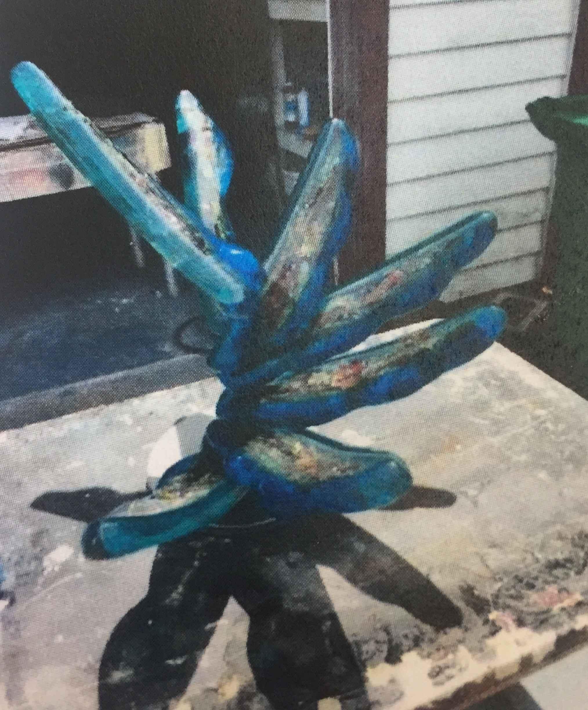 Sapphire Blossom by  Cris Woloszak - Masterpiece Online