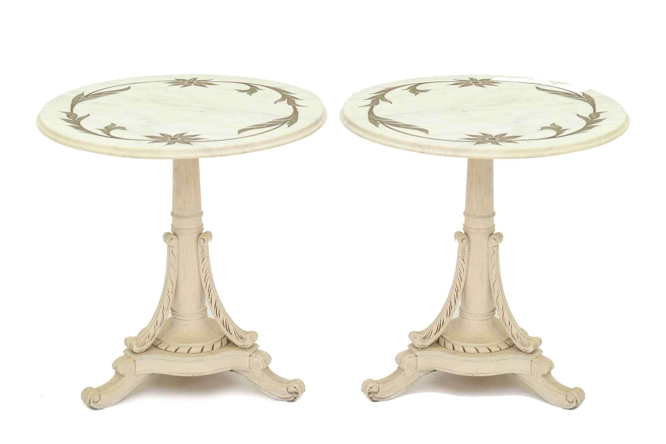 Pair of Painted End T... by  Italian  - Masterpiece Online