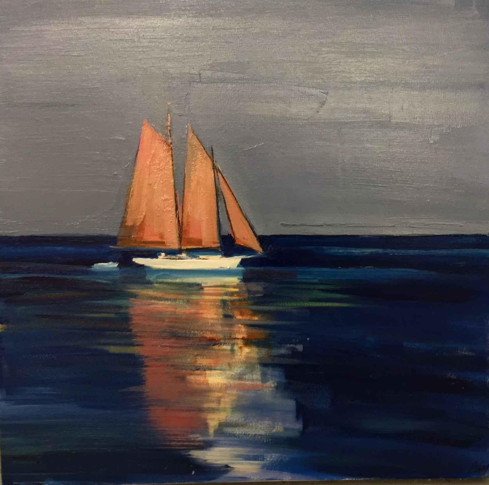 Schooner Reflection by  Craig Mooney - Masterpiece Online