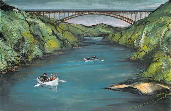 DP-New River Gorge by  P. Buckley Moss  - Masterpiece Online