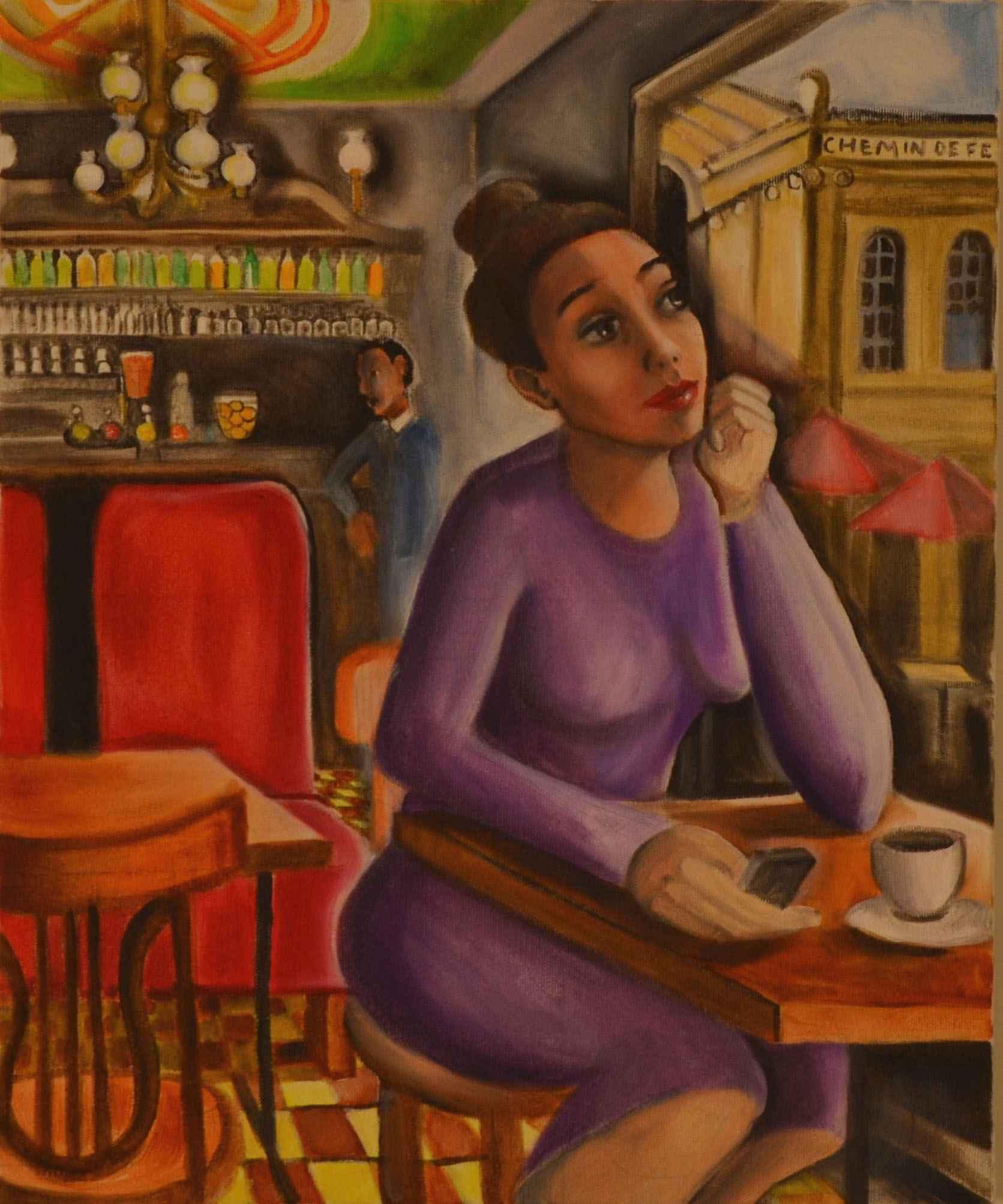 Café at Gare Du Nord by Ms. Rebecca Vincenzi - Masterpiece Online