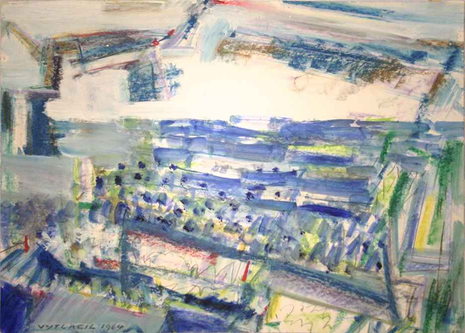 Vineyard Scene, 1964 by  Vaclav Vytlacil - Masterpiece Online