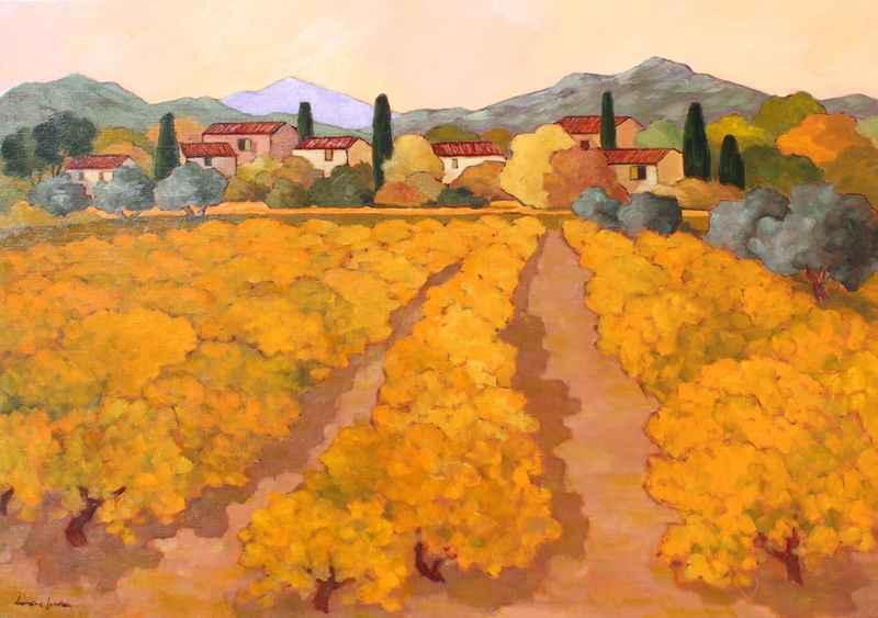 Les Vignes Jaunes by  Lorraine  Jordan - Masterpiece Online
