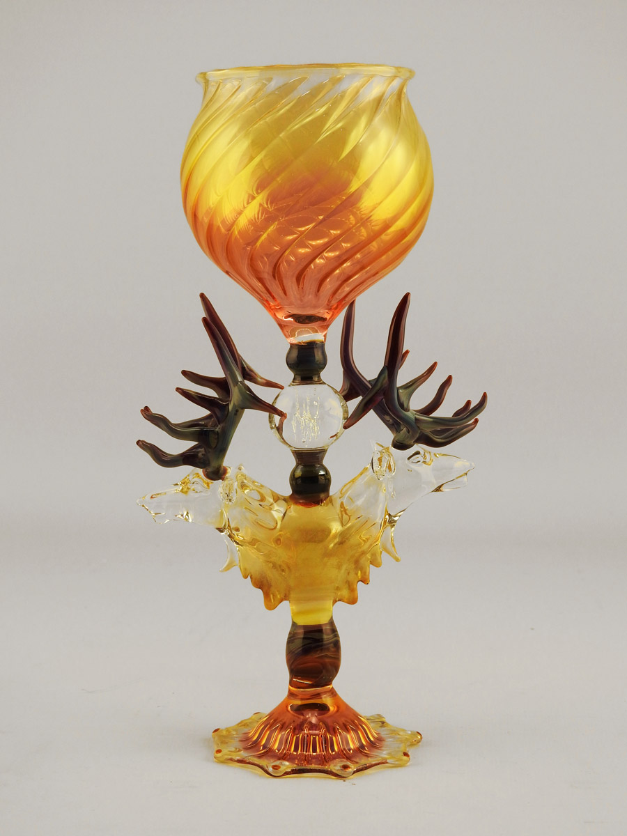 Goblet/Two Elk Chalice by  Dave Jordan/James Spehler - Masterpiece Online