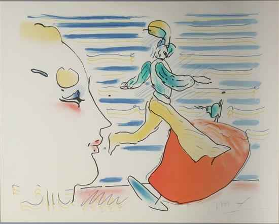 Red Sail Study by  Peter Max - Masterpiece Online
