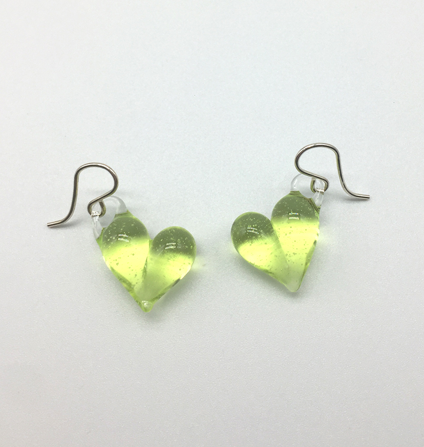 Sublime Hearts Earrings on Sterling Wires