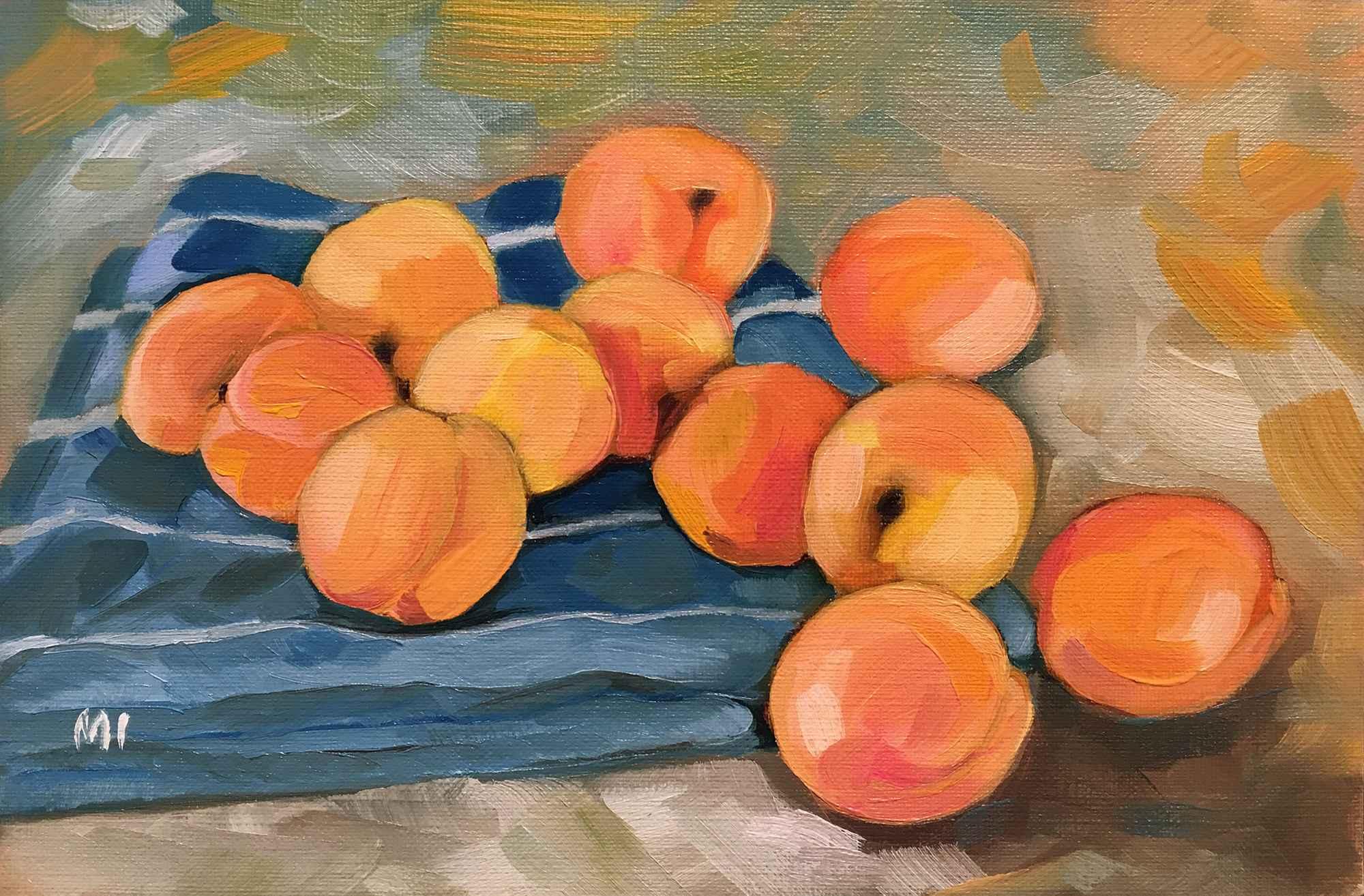 Twelve Apricots represented by  by  Marina Ivanova