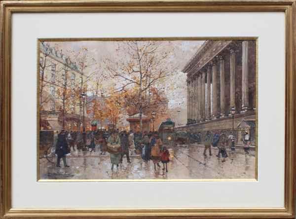 La Medeleine by  E. Galien Laloue  - Masterpiece Online